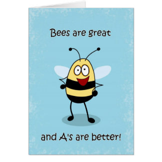 Congratulations Report Card Bumble Bee Card
