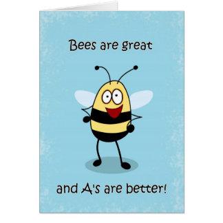 Congratulations Report Card Bumble Bee Card