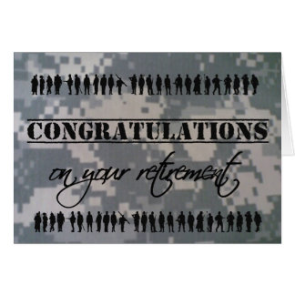 Congratulations Retirement Military Service Greeting Cards