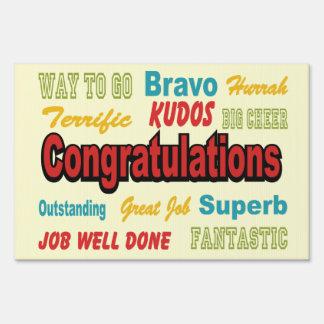 Congratulations Retro Colors Sign