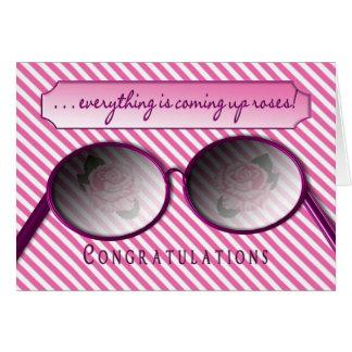 CONGRATULATIONS - ROSE COLORED GLASSES - FUN CARD