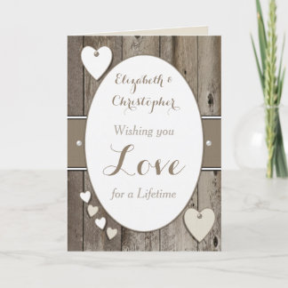 Congratulations Rustic Wedding Day greeting Card