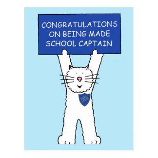 Congratulations school captain. postcard