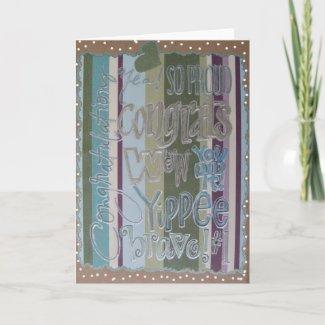 Congratulations - Scrapbook 1 - Seasons Card