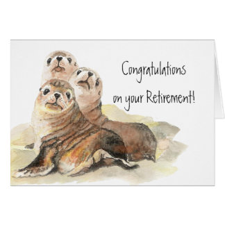 Congratulations Seals of Approval Retirement Card
