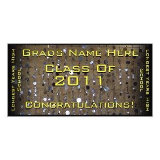 Congratulations Sequins - Graduation Photo Cards
