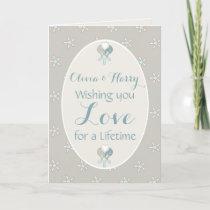 Congratulations shabby chic Wedding Day greeting Card