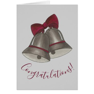 Wedding Themed Congratulations Silver Bells Wedding Anniversary Card