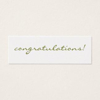 Congratulations: Silver Greeting Tag