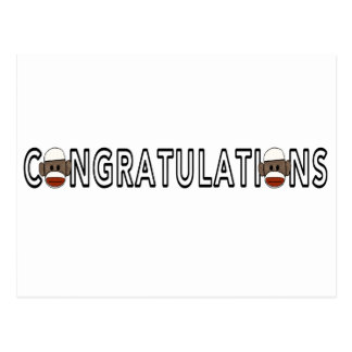 Congratulations Sock Monkeys Postcard