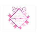 Congratulations! square bunting with words PINK Postcards