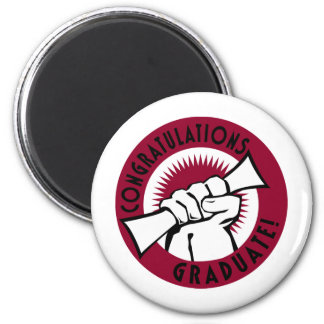 Congratulations Stamp 2 Inch Round Magnet