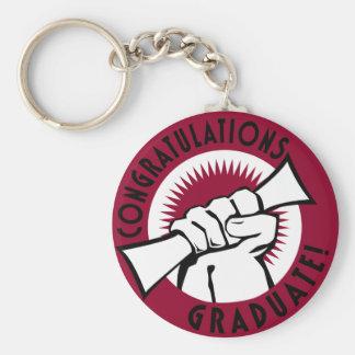 Congratulations Stamp Keychain