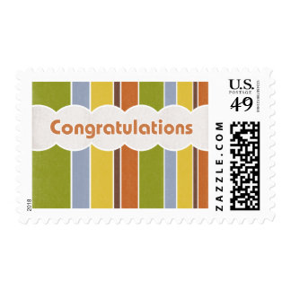 Congratulations - Stripes Stamps