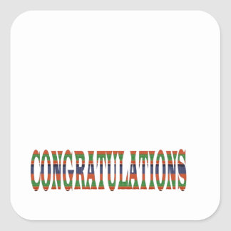CONGRATULATIONS: Success, Excellence,Event, GIFTS Square Sticker