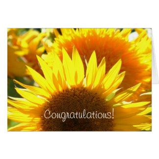 Congratulations Sunflower greeting card