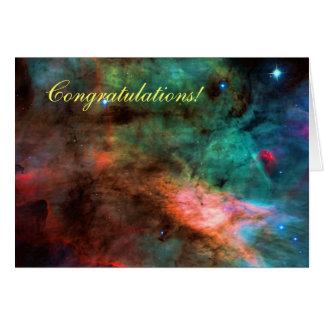 Congratulations - Swan Nebula Centre Card