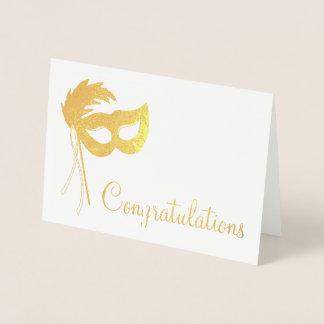 Congratulations Theatre Drama Club Theatrical Mask Foil Card