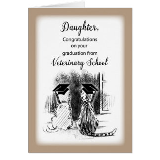 Congratulations to Daughter on Veterinary School G Card