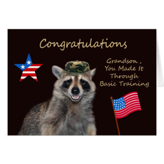 Congratulations To Grandson Greeting Card