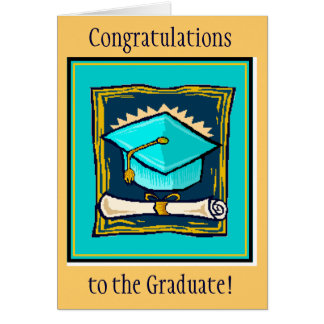 Congratulations to the Graduate - Blue Card
