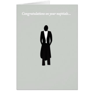 Congratulations to the Groom Greeting Card