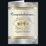 """Congratulations to the Mr and Mrs Wedding Card<br><div class=""""desc"""">Greeting Card. 100% Customizable. Ready to Fill in the box(es) or Click on the CUSTOMIZE button to add, move, delete or change any of the text or graphics. Made with high resolution vector and/or digital graphics for a professional print. NOTE: (THIS IS A PRINT. All zazzle product designs are &quot;prints&quot;...</div>"""