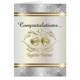 Congratulations To The Mr And Mrs Wedding Card at Zazzle