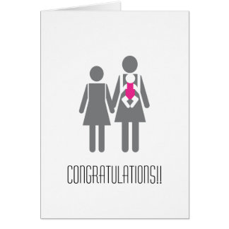 Congratulations to Two New Moms Greeting Card