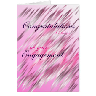Congratulations to you both on your Engagement Card