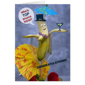 Congratulations Top Banana Card