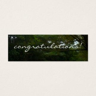 Congratulations Tropical Rainforest Bamboo Mini Business Card