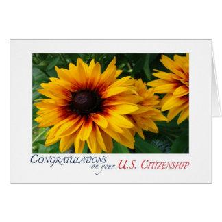 Congratulations US Citizenship floral Card