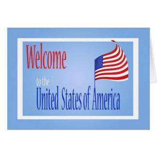 Congratulations US Citizenship US Flag Greeting Card