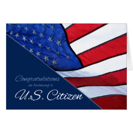 Congratulations US Citizenship US Flag Card
