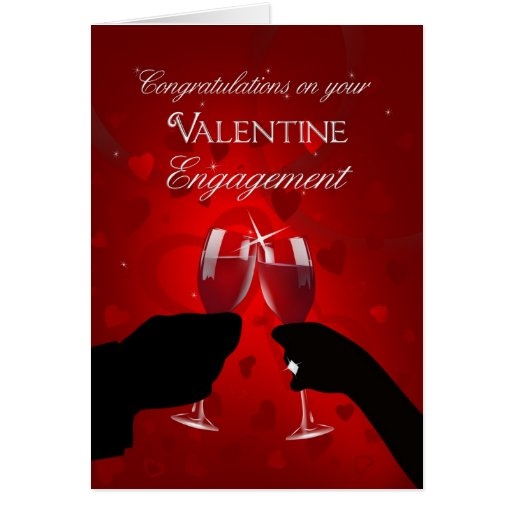 Congratulations Valentine's Day Engagement Card