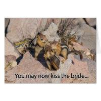 Congratulations Wedding Chipmunk Card