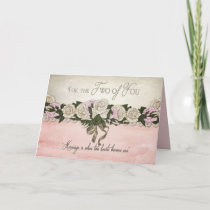 Congratulations - Wedding/Marriage - Vintage/Pink Card