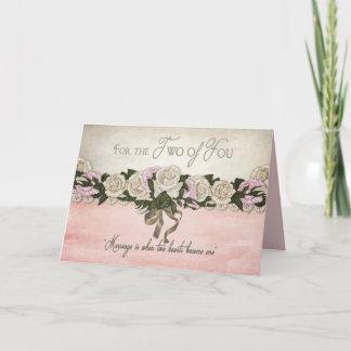 Congratulations - Wedding/Marriage - Vintage/Pink Card