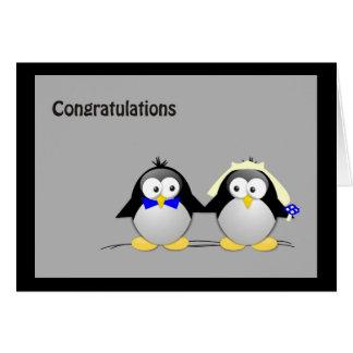 Congratulations Wedding- Penguins Card