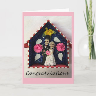 Congratulations Wedding Skeletons Card