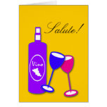 Congratulations Wine Bottle And Glasses Card