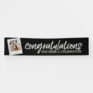 Congratulations with One Photo and Custom Text Banner