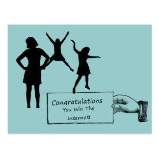 Congratulations You Win The Internet Postcard
