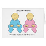 Congratulations, you're a Grandparent to twins. Greeting Card