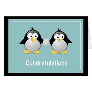 Congratulations, You're Expecting Penguin Greeting Card