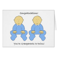 Congratulations you're Grandparents to twins Card