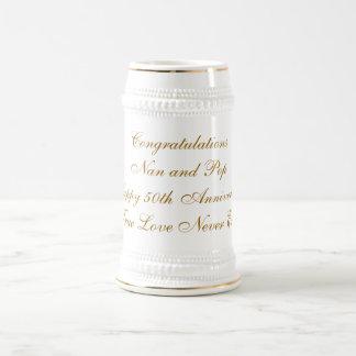 CongratulationsNan and PopHappy 50th Anniversar... Beer Stein