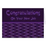 Congratultions en su nuevo trabajo tarjetas