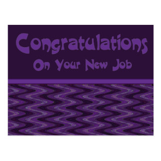 Congratultions on Your New Job Postcard